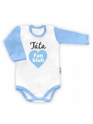 Baby Nellys Body dlhý rukáv vel. 86, Táta Fan klub Fan klub - 86 (12-18m)