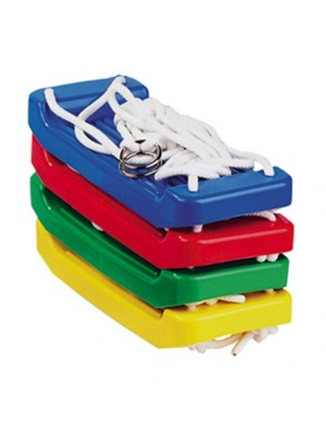 Teddies Houpačka/Houpací prkénko plast 43x18cm asst 4 barvy v síťce