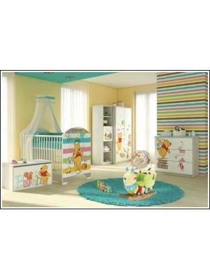 BabyBoo Dětská postieľka Disney Medvedík Pu a Prasiatko - 120x60cm