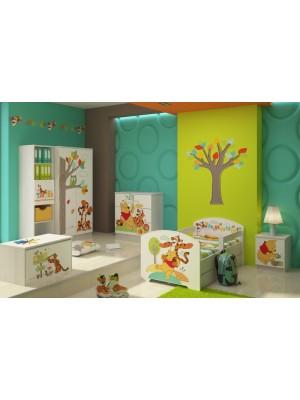 BabyBoo Detská postel Disney - Medvídek PÚ a tigrík, D19 - 140x70