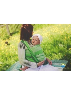 Little FROG Tkaný šatka na nosenie detí -  TSAVORITE - XL (42)