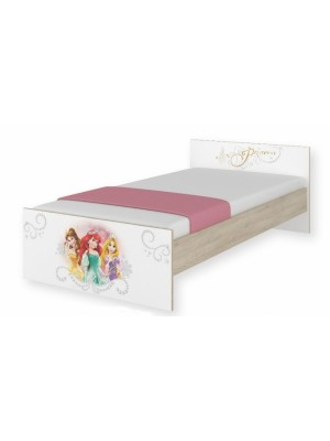 BabyBoo Detská junior posteľ Disney 180x90cm - Princess, D19 - 180x90