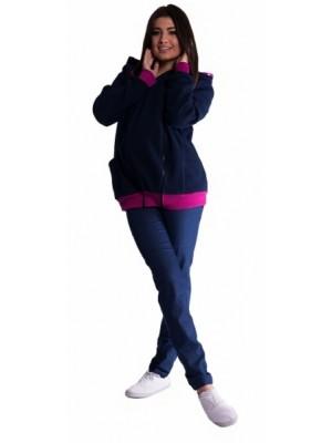 Be MaaMaa Mikina s kapucňou nielen pre tehotné - granát - L/XL