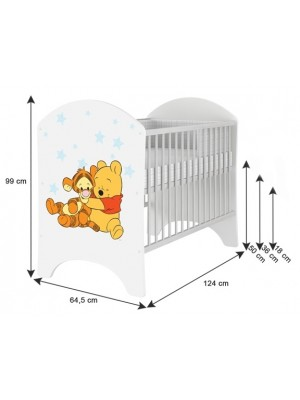BabyBoo Dětská postieľka Disney Baby Dumbo - 120x60cm