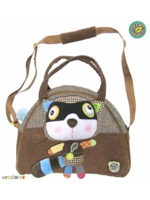 EcoSnoopers Štýlová detská taška Mýval - hnedý