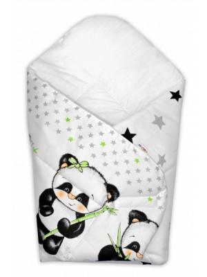 Baby Nellys  Novorodenecká zavinovačka Panda Baby Nellys, D19