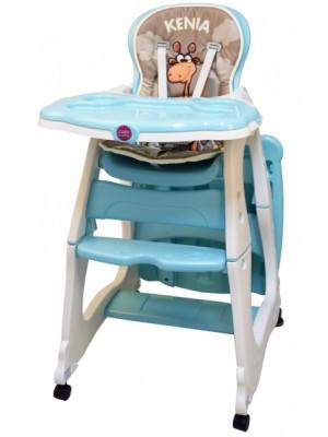 Coto Baby Jedálenská židlička Kenia - tyrkysová