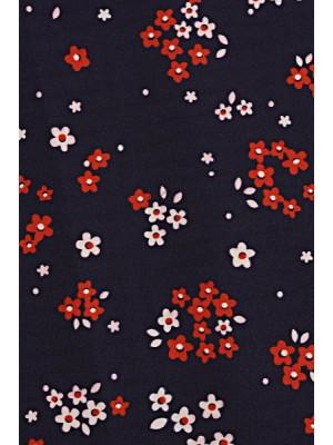 Be MaaMaa Elegantné voľné tehotenské šaty, tunika, kr. rukáv - printy kvetinky - S/M