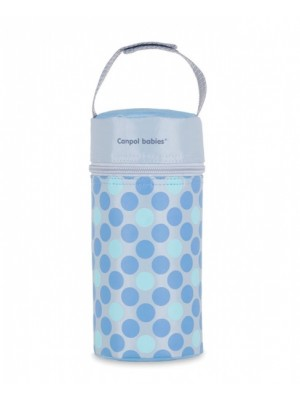 Canpol babies Termobox na dojčenskú fľašu - bodki modré