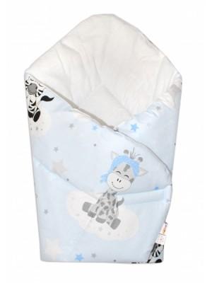 Baby Nellys  Novorodenecká zavinovačka Safari Baby - sv. modrá