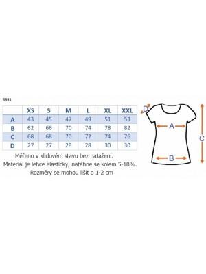 Be MaaMaa Elegantná tunika nielen pre tehotné, krátky rukáv - grafit, vel´. XL - XL (42)