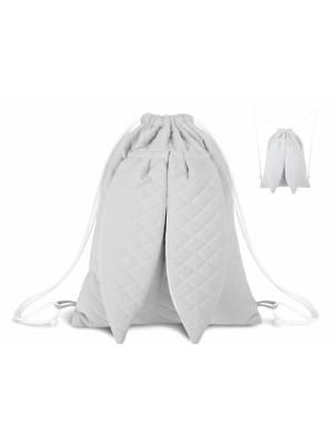Miminu Štýlový detský batôžtek Velvet lux mimino prešívaný - šedý