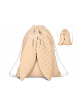 Miminu Štýlový detský batôžtek Velvet lux mimino prešívaný - marhul´ová
