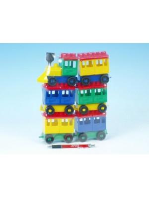 Teddies Stavebnica LORI 8 vlak + 5 vagónikov plast v sáčku 20x26x5cm