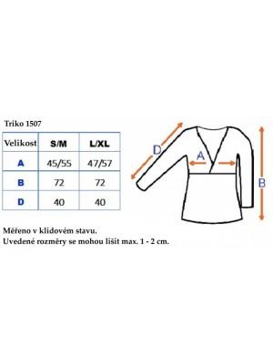 Be MaaMaa Tehotenské, dojčiace triko 3/4 rukáv - cappucino, vel´. L/XL - L/XL