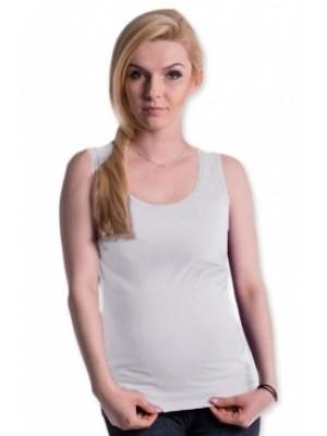 Be MaaMaa Tehotenské, dojčiace tielko s odnímateľnými ramienkami - biele - S/M