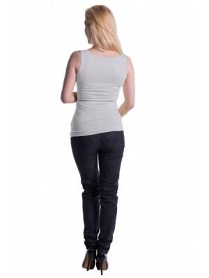 Be MaaMaa Tehotenské, dojčiace tielko s odnímateľnými ramienkami - biele, vel´. L/XL - L/XL
