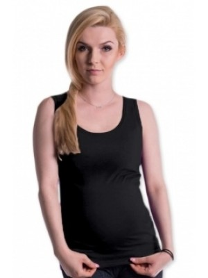 Be MaaMaa Tehotenské, dojčiace tielko s odnímateľnými ramienkami - čierne, vel´. L/XL - L/XL