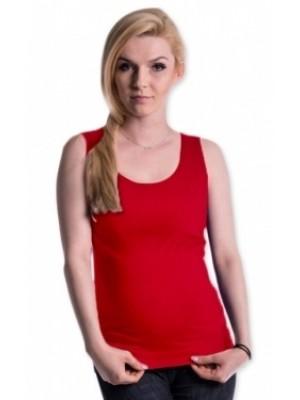 Be MaaMaa Tehotenské, dojčiace tielko s odnímateľnými ramienkami - červené - S/M