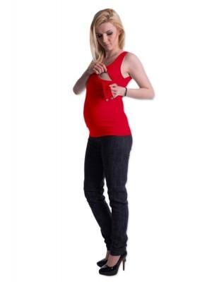 Be MaaMaa Tehotenské, dojčiace tielko s odnímateľnými ramienkami - červené, vel´. L/XL - L/XL