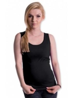 Be MaaMaa Tehotenské, dojčiace tielko s odnímateľnými ramienkami - grafitové - S/M