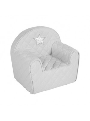 Albero Mio Detské kresielko/pohovečka Hviezdička - šedé
