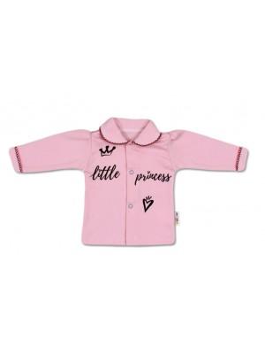 Baby Nellys Bavlnená košieľka Little Princess - růžová - 56 (1-2m)