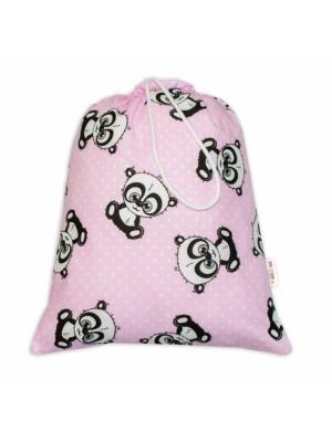 Baby Nellys Vrecko na prezúvky Panda - ružový