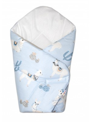 Baby Nellys  Novorodenecká zavinovačka Lama - modrá