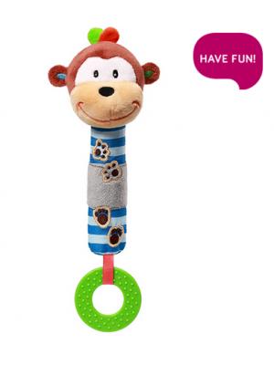 BabyOno Plyšová hračka s pískátkem a hryzátkom Opička George